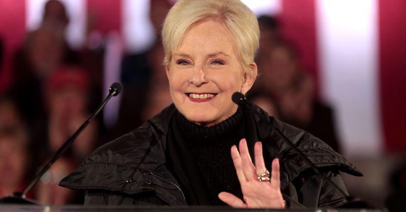 Cindy McCain waving