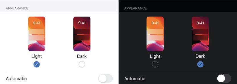 Dark mode vs Light mode in iPhone iOS
