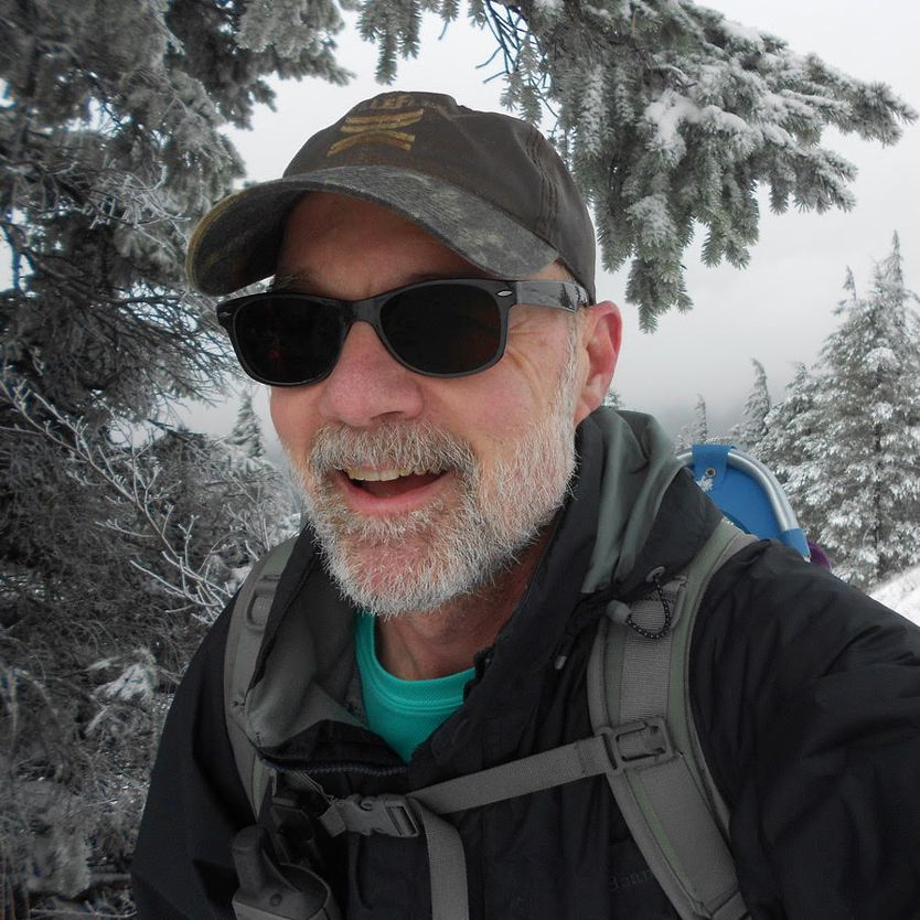 Dave Wearing Outdoor Classic TheraSpecs While Hiking