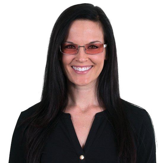 Woman wearing Indoor Haven TheraSpecs