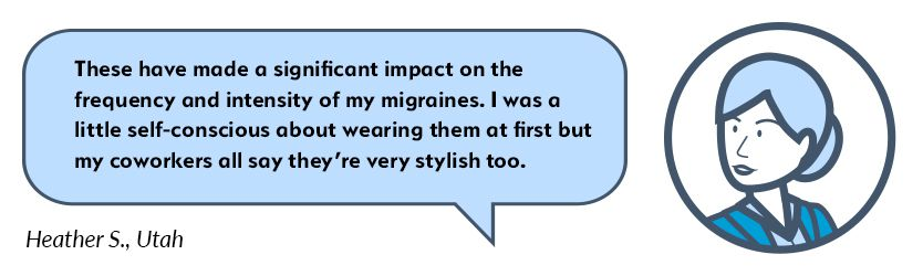 Heather Migraine Glasses Testimonial