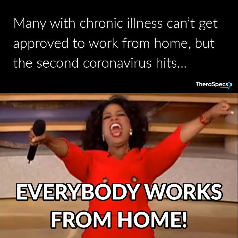 Funny Oprah Meme Highlighting Migraine Stigma and Work from Home