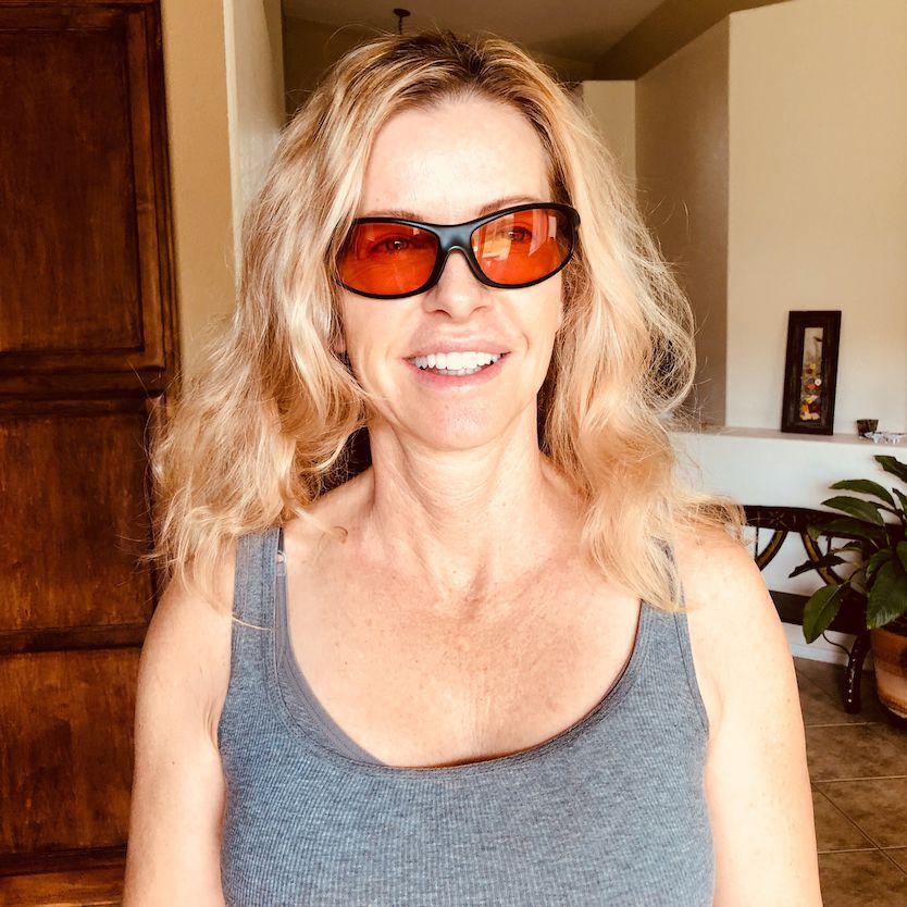 Paula Wearing TheraSpecs for Brain Injury Dizziness