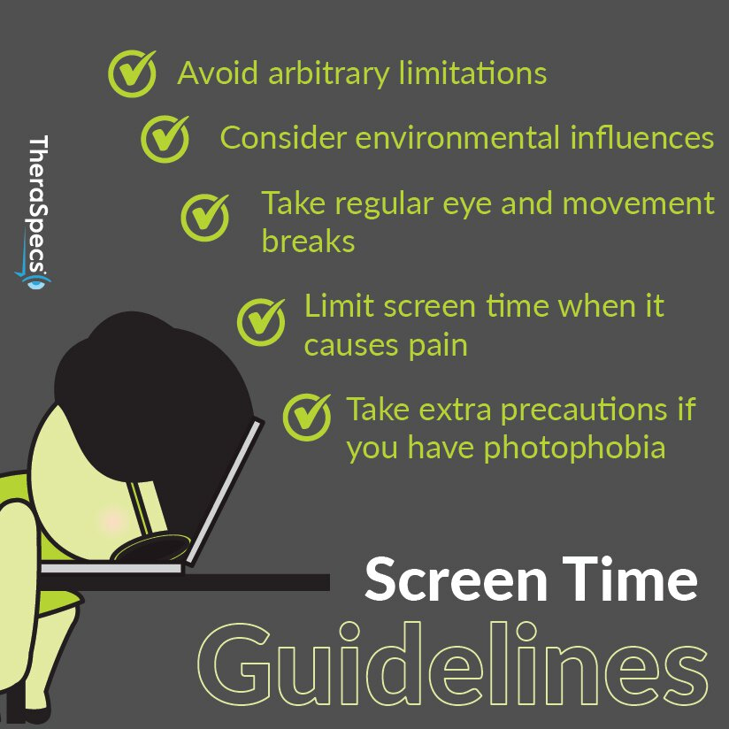 Infographic updated screen use guidelines