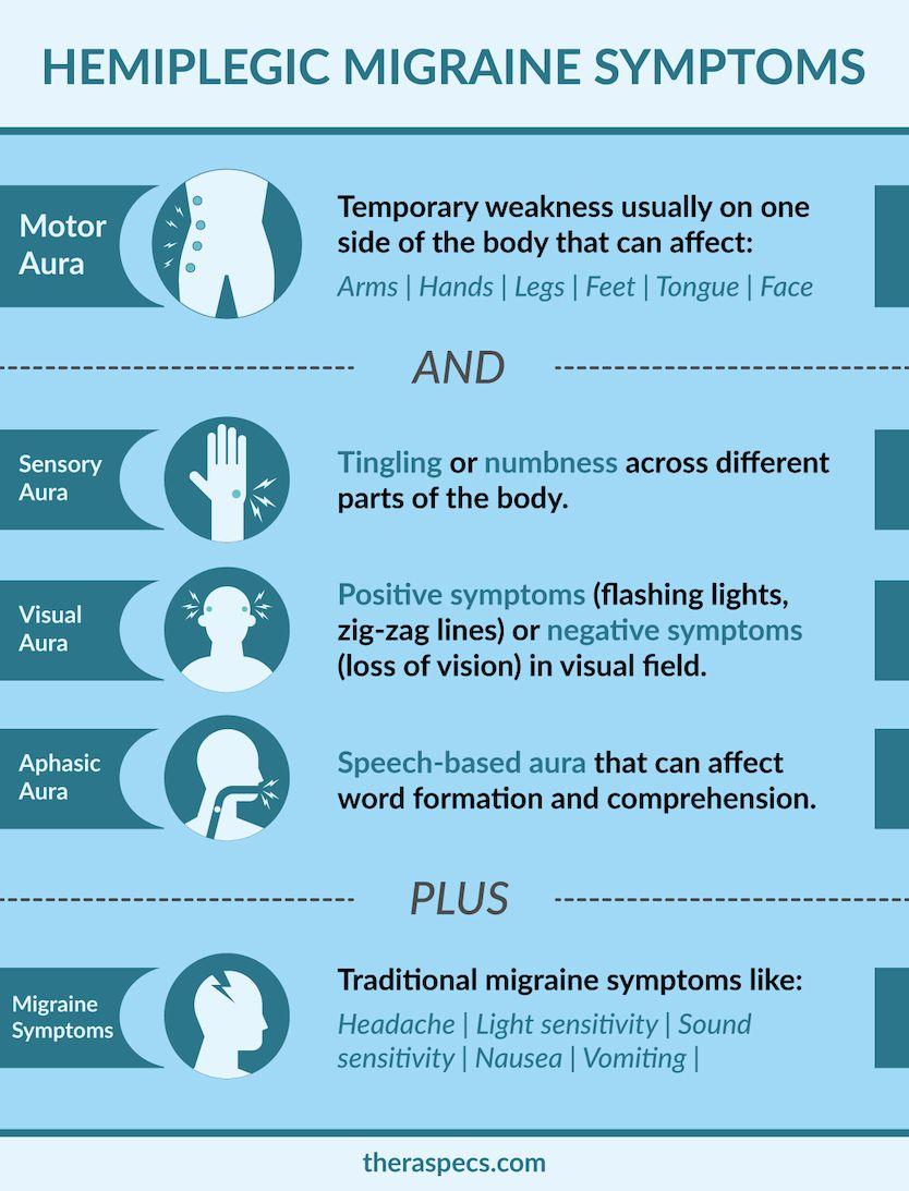Hemiplegic Migraine Symptoms Infographic