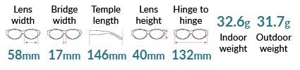 Conrad TheraSpecs Dimensions