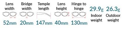 Winslow TheraSpecs Dimensions