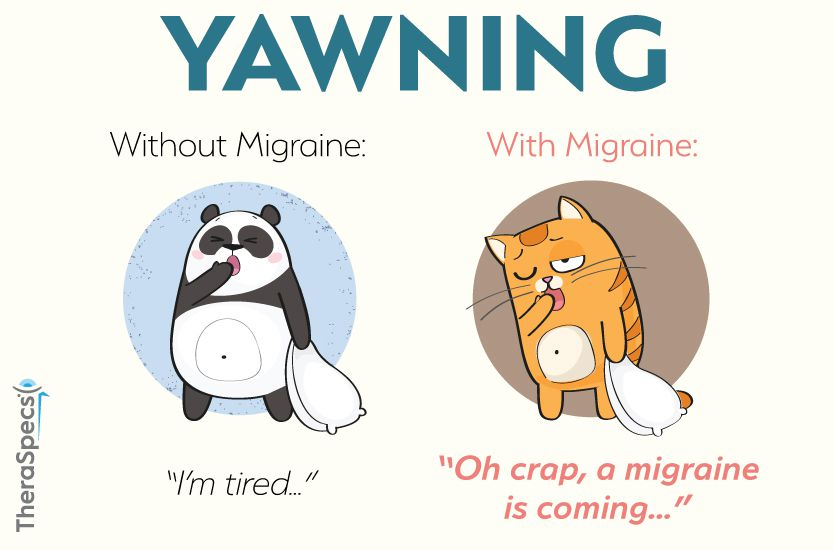 Migraine Prodrome Yawning Symptom Meme