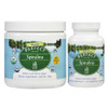 Front View of Perfect Supplements bottles of Spirulina Powder And Capsules