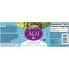 Full label view including supplement facts, ingredients and suggested use for Acai capsules from Perfect Supplements.