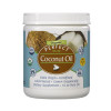 Front view of a container of Extra Virgin, Cold Pressed  Perfect Coconut Oil from Perfect Supplements.