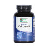 Front view of a bottle of Blue Ice Non flavored Green Pasture Cod Liver Oil capsules.