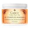 Front view of a bottle of Catie's Whole Plant Food B-Complex Powder vegetarian supplement.