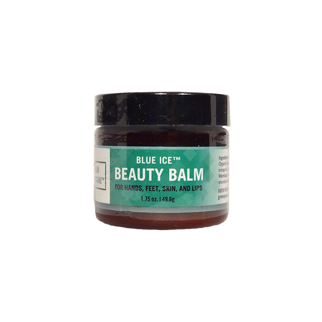 Front view of a container of Green Pastures Fermented Cod Liver Oil Beauty Balm for hands, feet, skin and lips.
