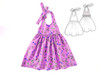 Halter girls dress pattern . Sewing PDF pattern for baby girls, toddler girls.