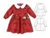 Peter Pan dress pattern for girls, toddler, newborn, infant. 5Berries