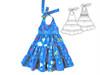 Sundress pattern for girls, toddler, little girls. halter dress pattern.