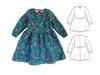Peter Pan dress sewing PDF pattern for girls, infant, toddler