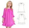 Flare girls dress PDF pattern.  3y-14y