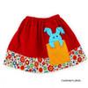 Peekaboo skirt PDF pattern for girls