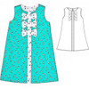 A-line dress pattern for toddler, girls
