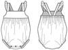 baby, newborn, infant romper sewing pattern
