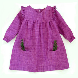 Annushka girls dress patter for baby, newborn, toddler, infant.