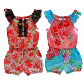 Charotte peasant romper for girls toddler