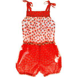 Annabel girls romper pattern swimsuit