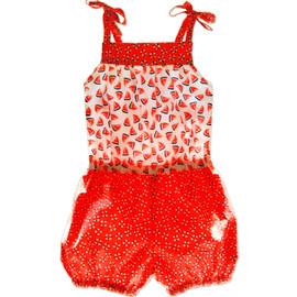 Annabel girls romper pattern swimsuit
