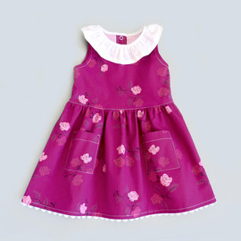 Lena sewing dress pattern for baby girls, newborn, toddler, infant