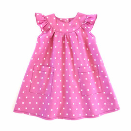 Peppa sewing dress pattern for baby, toddler, newborn, toddler