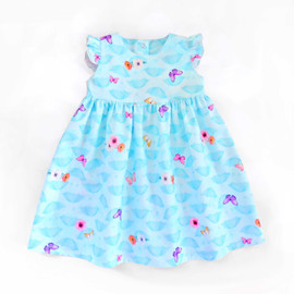 Vienna baby girl dress sewing pattern. PDF sewing patterns for children, kids, newborn, infants