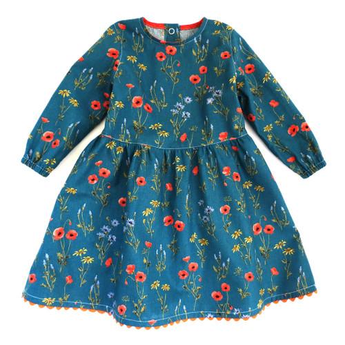 Peter Pan sewing girls dress pattern. Toddler dress sewing  pattern. 5Berries