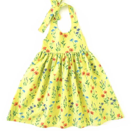 Madison girls and toddler sundress pattern. Halter dress sewing pattern.