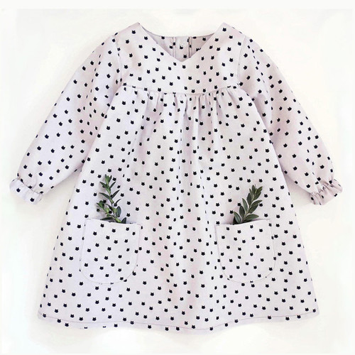 Annushka baby sewing  PDF dress pattern for girls, toddler