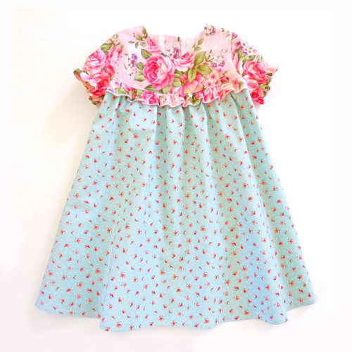 Ninotchka baby dress sewing pattern for girls 5Berries