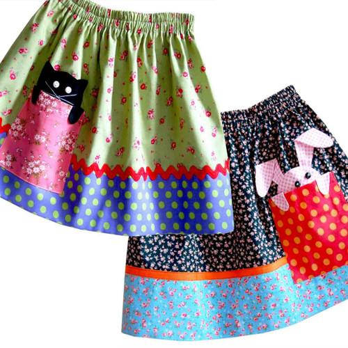 Peekaboo skirt sewing pattern for toddler girls
