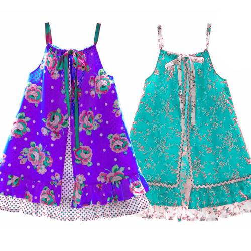 Girls dress sewing PDF pattern for toddler, children