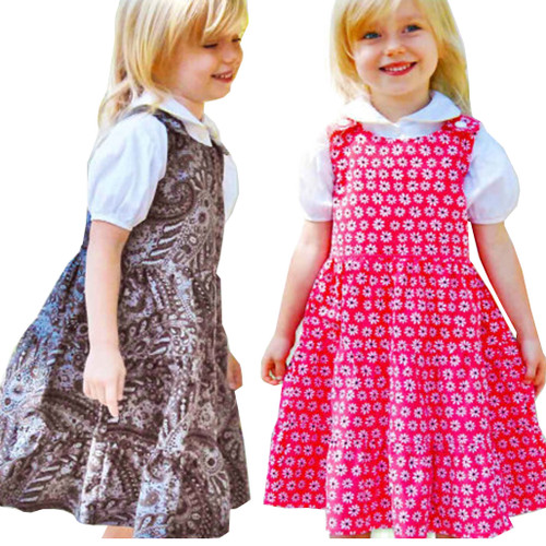 Jumper dress sewing pattern for girls and toddler