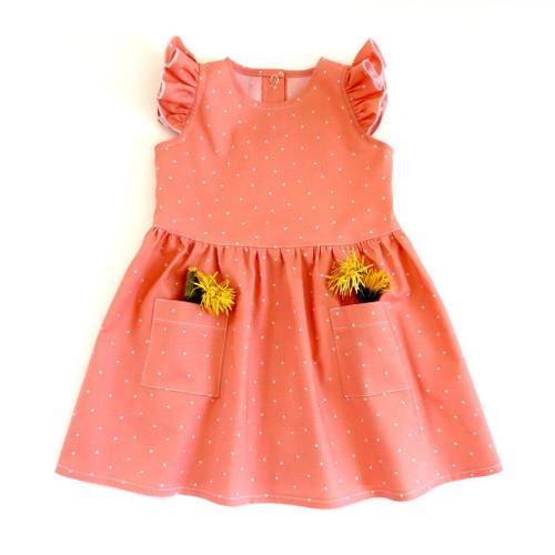Lena dress pattern for baby, newborn, infant girls