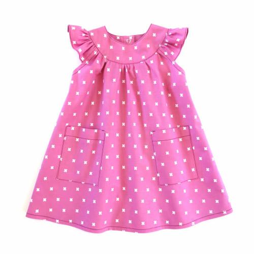 Peppa sewing dress pattern for baby, toddler, newborn, toddler