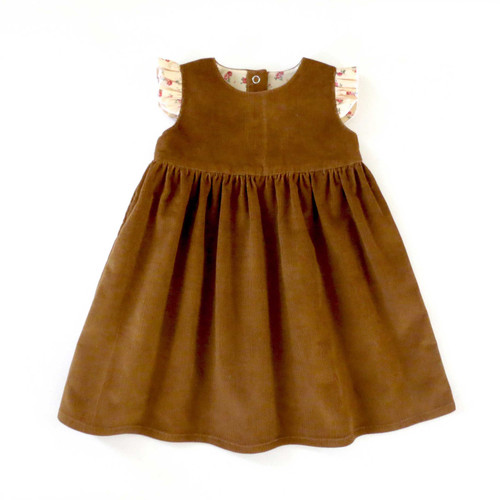 Vienna baby girl sewing dress pattern. PDF sewing patterns for kids, children, infants, newborn girls.