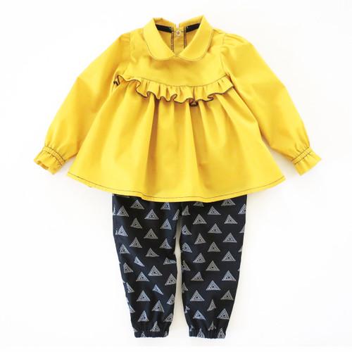 Baby girl top pants sewing pattern Etsy PDF 5Berries