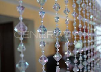 Acrylic Gemstone Beaded Curtains - 3 Feet by 6 Feet 4 Colors