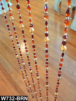 Amber Gemstones Beaded Curtains - 1 Foot by 6 Feet