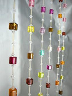 Rainbow Cubes Beaded Curtains - 1 Foot by 6 Feet