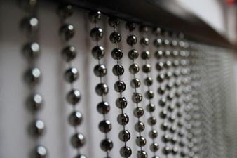 Faux Metal Ball Chain Beaded Curtain - 3 Feet by 6 Feet - 5 Colors