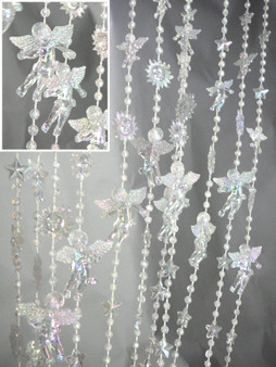 Crystal Iridescent Angels Beaded Curtains - 3 Feet by 6 Feet