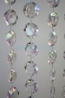 Acrylic Diamond Cut Crystal Beads